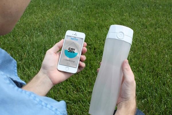 HidrataMe, una botella inteligente que te ayuda a hidratarte b