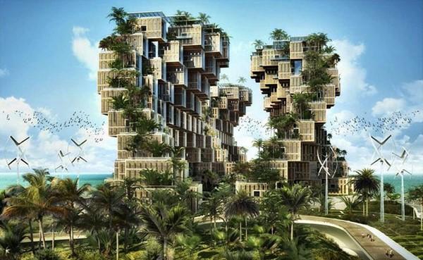 Colección de fotos de arquitectura sostenible aa