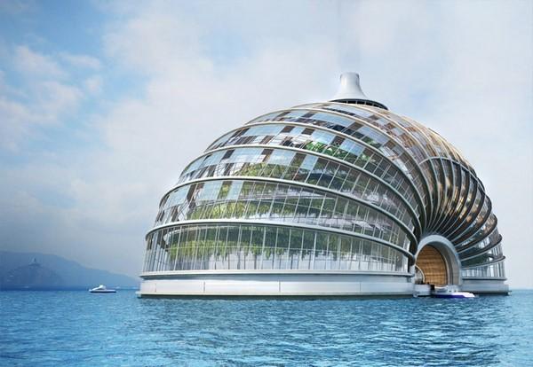 Colección de fotos de arquitectura sostenible ai