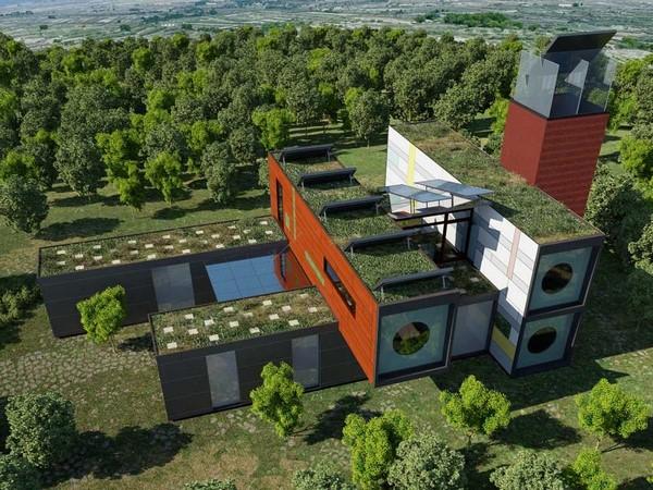 Colección de fotos de arquitectura sostenible aj