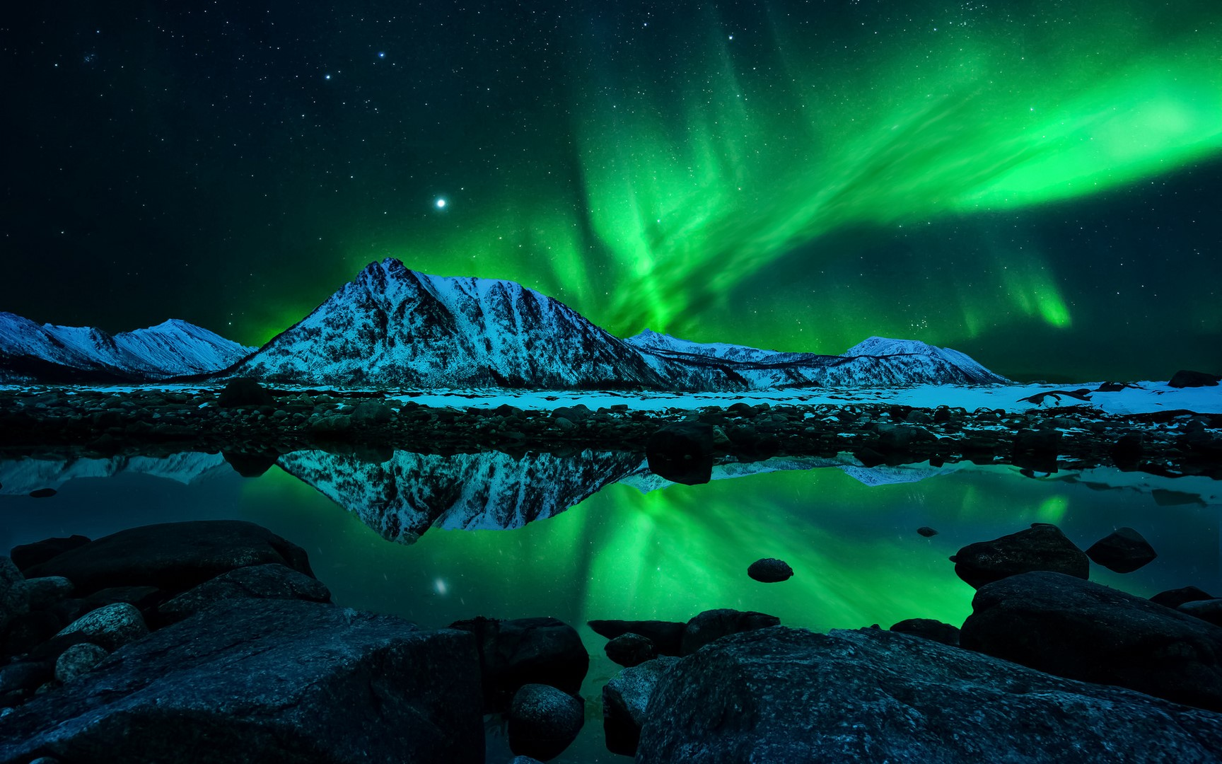 Aurora boreal ao