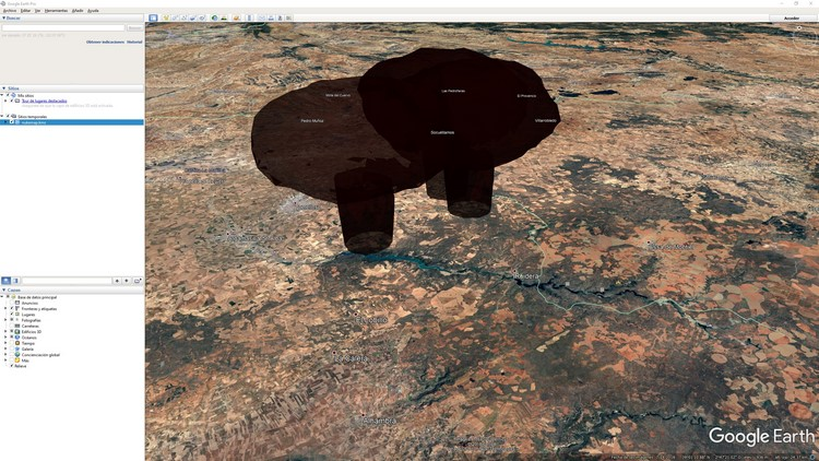 abrir kmz nukemap en google earth explosion nuclear 3d