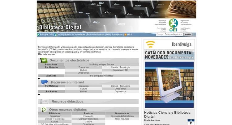Biblioteca Digital OEI (Organización de Estados Iberoamericanos) Descargar libros y eBooks gratis